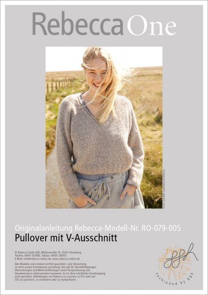 Anleitung - Pullover mit V-Ausschnitt