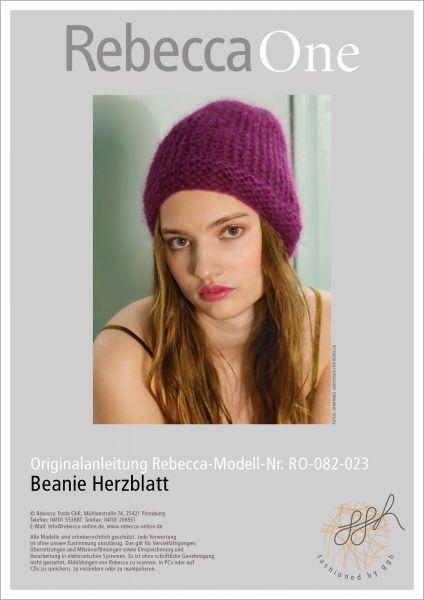 Anleitung - Beanie Herzblatt