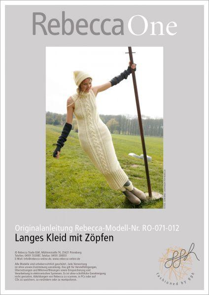 Strickanleitung - Langes Kleid mit Zöpfen