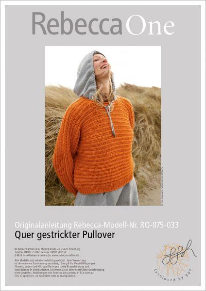 Strickanleitung - Quer gestrickter Pullover