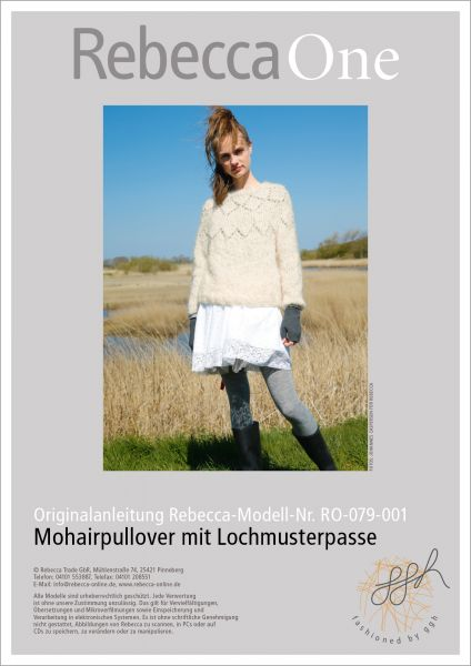 Anleitung - Mohairpullover mit Lochmuster