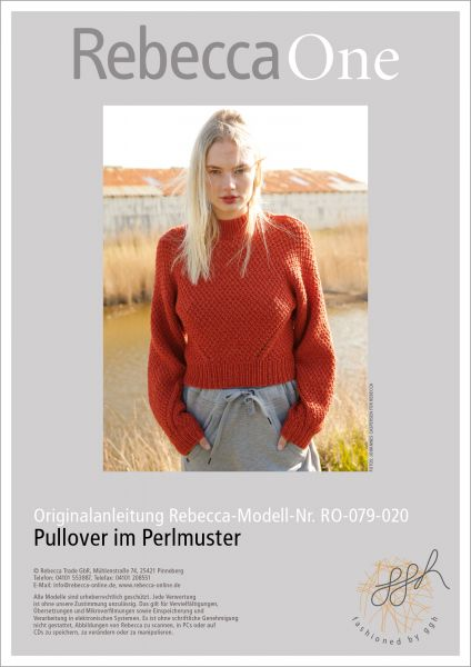 Anleitung - Pullover mit Perlmuster