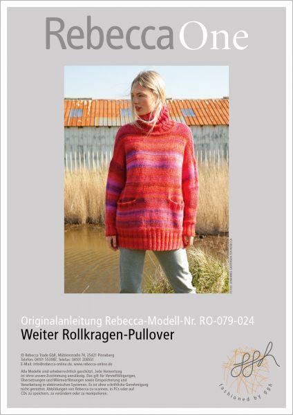 Anleitung - Weiter Rollkragen-Pullover